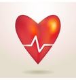 -red glossy shiny three-dimensional heart 3d on a vector