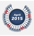 Calendar 2015 april template vector