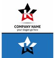 Letter k logo with star icon vector