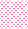 Colorful red polka dots seamless background vector