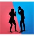 Couple argue fight vector