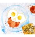 Breakfast smile eggs vector