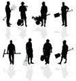 Gardener people vector
