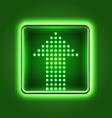 Green arrow neon icon vector