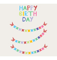 Bunting birthday card vector