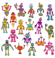 Set of robots - hand drawn doodles vector