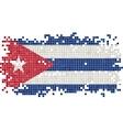 Cuban grunge tile flag vector