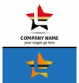 Letter l logo with star icon vector