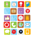 Icons web set funny design vector