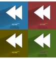 Color set multimedia control flat modern web vector