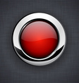 Glossy 3d red button vector