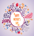 Happy mothers day flowers pattern decorative vector