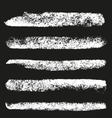 Set of grunge chalk brushes vector