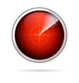 Icon for red radar vector