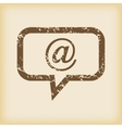 Grungy mail message icon vector