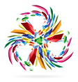 Abstract colourful star for your vector