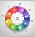 Color arrows design template vector