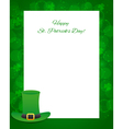 St patricks day background with card vector