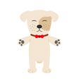A cute s puppy cartoon vector