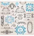 Set calligraphic design elements vector