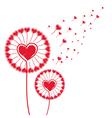 Dandelion of hearts background vector