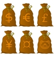 Bags with money vector