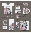 Corporate business style design tshirt labels mug vector