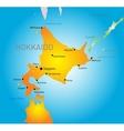 Hokkaido island vector