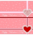 Greeting card - heart of flowers valentines day vector