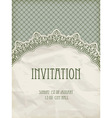 Retro invitation template vector