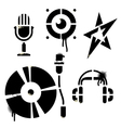 Stencil music icons vector