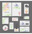 Corporate business style design folder labels vector