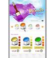 Website template paint shop vector