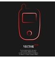 Mobile phone flat modern web button and space for vector