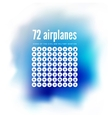 72 icons of airplanes vector