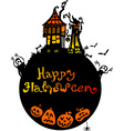Halloween background with scary house vector