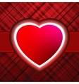 Red glow heart valentines day card with eps 8 vector