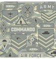 Seamless military pattern 11 vector