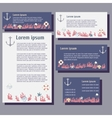 Templates of card and letter vector
