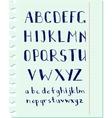 Pen alphabet vector