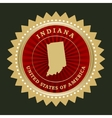 Star label indiana vector
