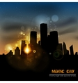 The city at sunset vector