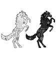 Set of black horses vector