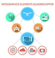Colored infographic for quadrocopter set vector