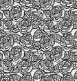 Vintage seamless background of gray roses vector