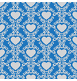 Vintage background with hearts vector