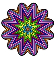 Colorful starlike ornament vector
