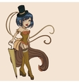 Steampunk women vector