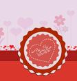 Valentine card flower vector