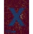 Alphabet x vector